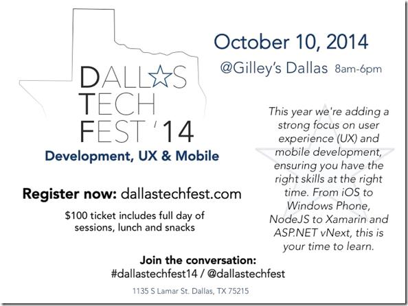 2014 Dallas TechFest